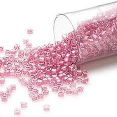 Miyuki Delica #11 Transparent  Color-Lined Hot Pink Db0902 7.5 gram vial