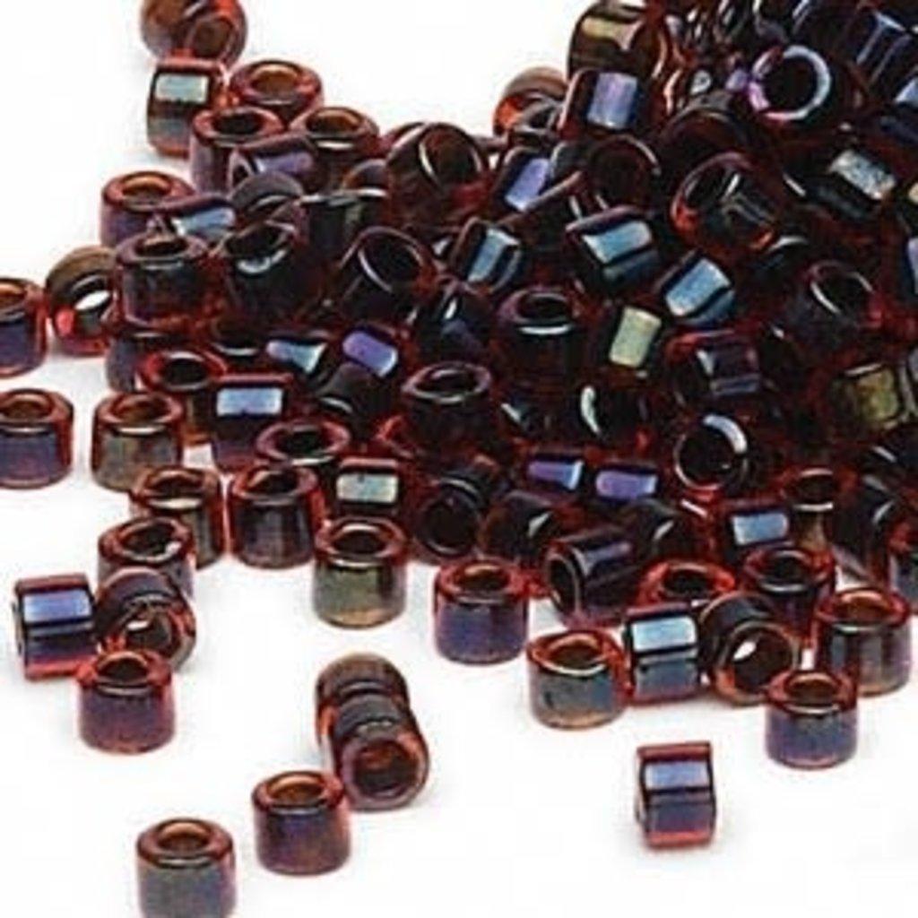 Miyuki Delica #11 Color-Lined Choco Cherry Db0297    7.5 gram vial