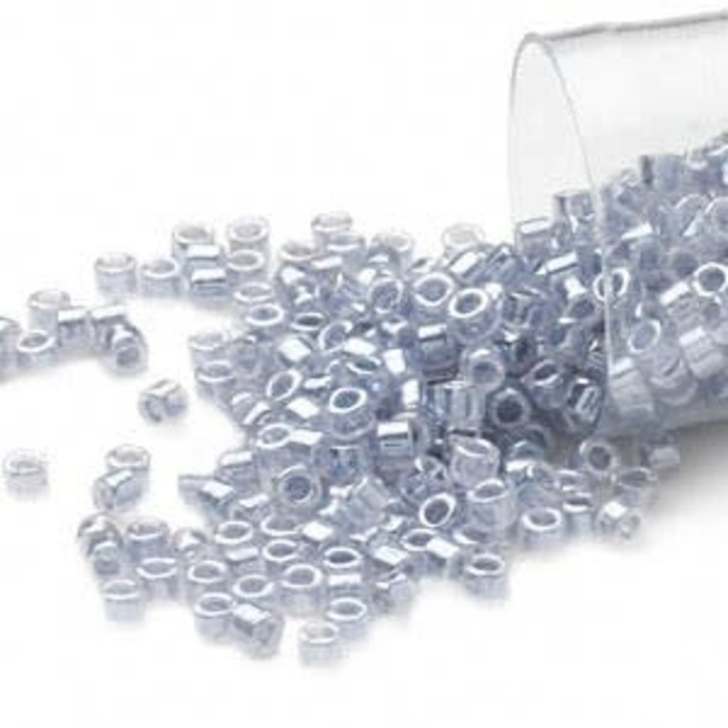 Miyuki Delica #11  Opaque Ceylon C-Lined Silver Grey Db0242 7.5 gram vial