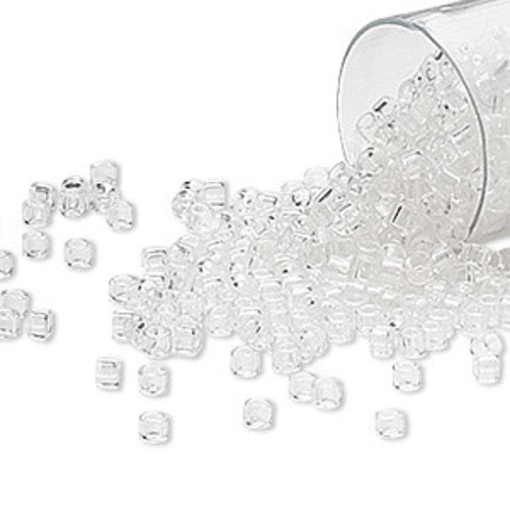 Miyuki Delica  #11  Transparent Crystal Db0141   7.5 gram vial