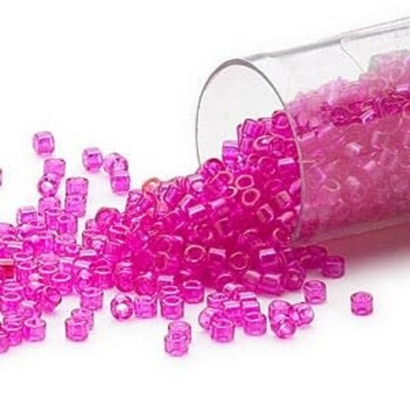 Miyuki Delica #11 Transparent  Hot Pink Db1310 7.5 gram vial