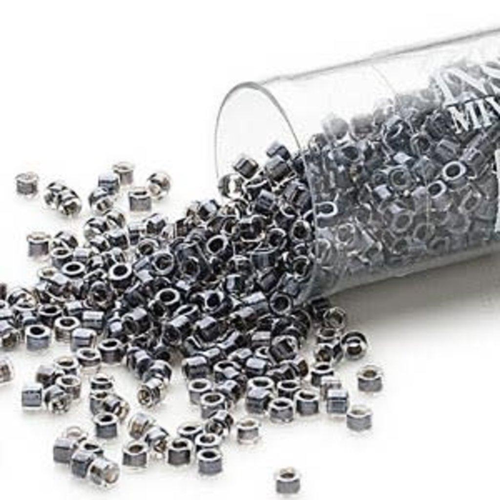 Miyuki Delica #11 Color-Lined Steel Grey Db0925   7.5 gram vial