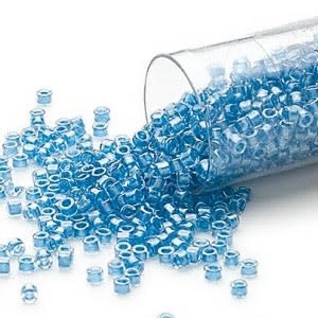 Miyuki Delica #11 Color-Lined Shimmer Sky Blue Db0905 7.5 gram vial