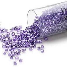 Miyuki Delica #11 Color-Lined Shimmer Lavender Db0906 7.5 gram vial