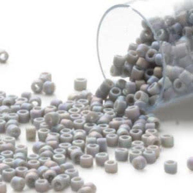 Miyuki Delica #11 Opaque Matte Rnbw Grey Db0882    7.5 gram vial