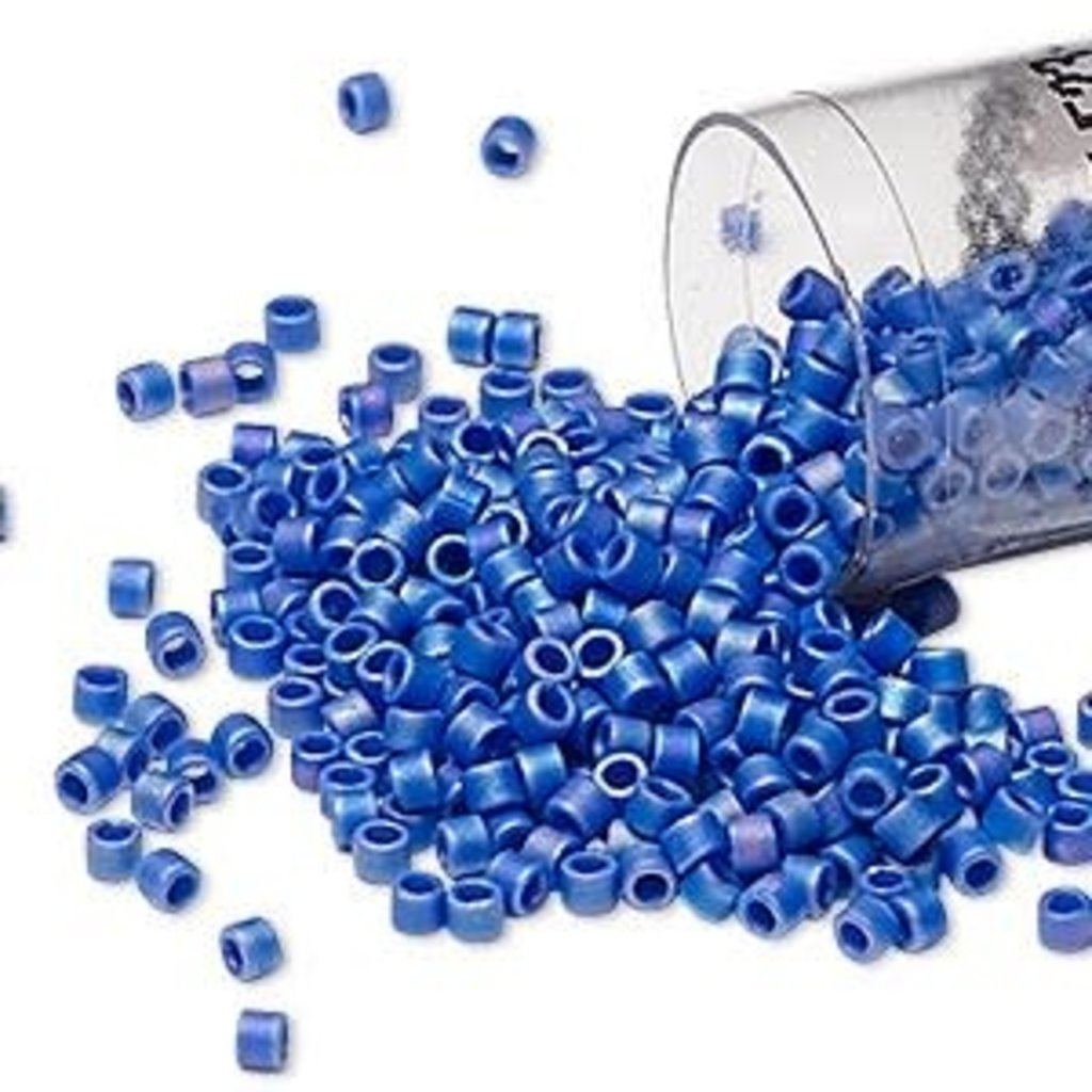 Miyuki Delica #11Opaque Matte Rainbow Cobalt Db0880       7.5 gram vial
