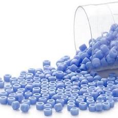 Miyuki Delica #11Opaque Matte Rnbw Lt Blue Db0881     7.5 gram vial