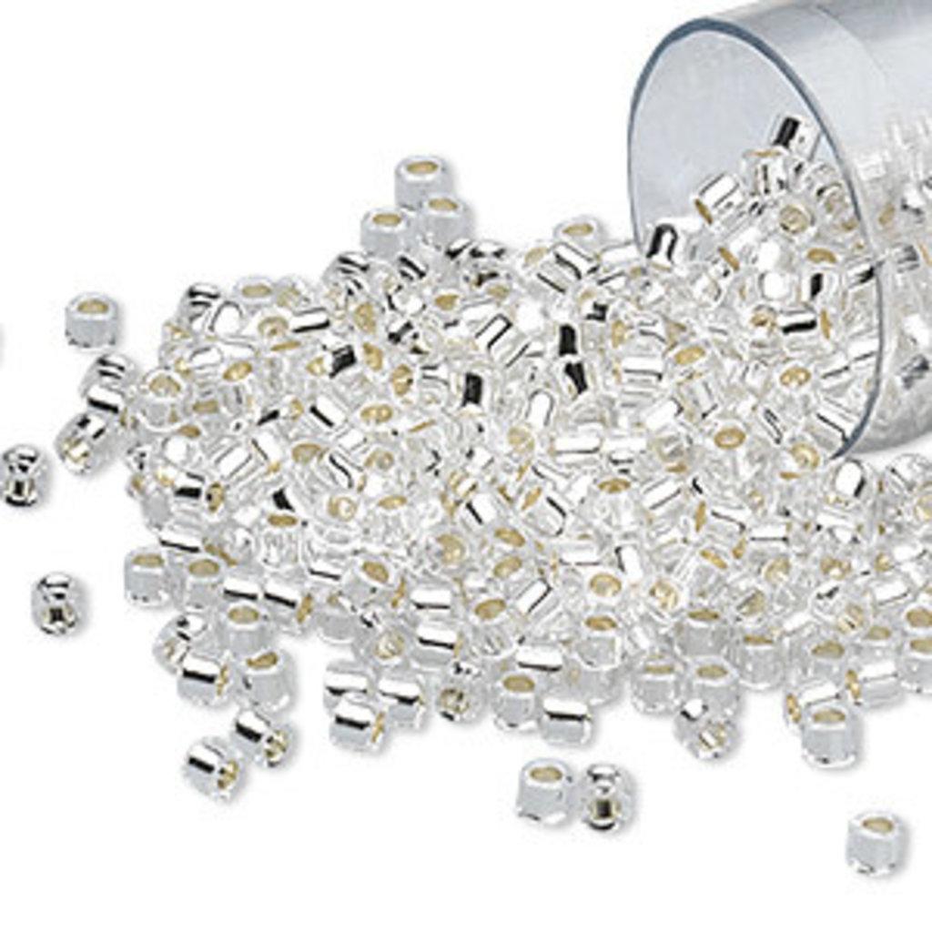 Miyuki Delica #11 Trnsp Silver Lined Crystal Db0041 7.5 gram vial