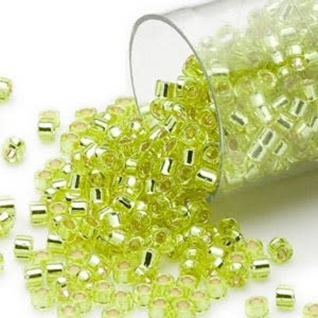 Miyuki Delica #11 Silver Lined Lime Yellow Db0147   7.5 gram vial