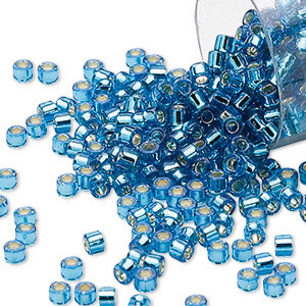 Miyuki Delica  #11  Silver Lined Turq Blue Db0149 7.5 gram vial