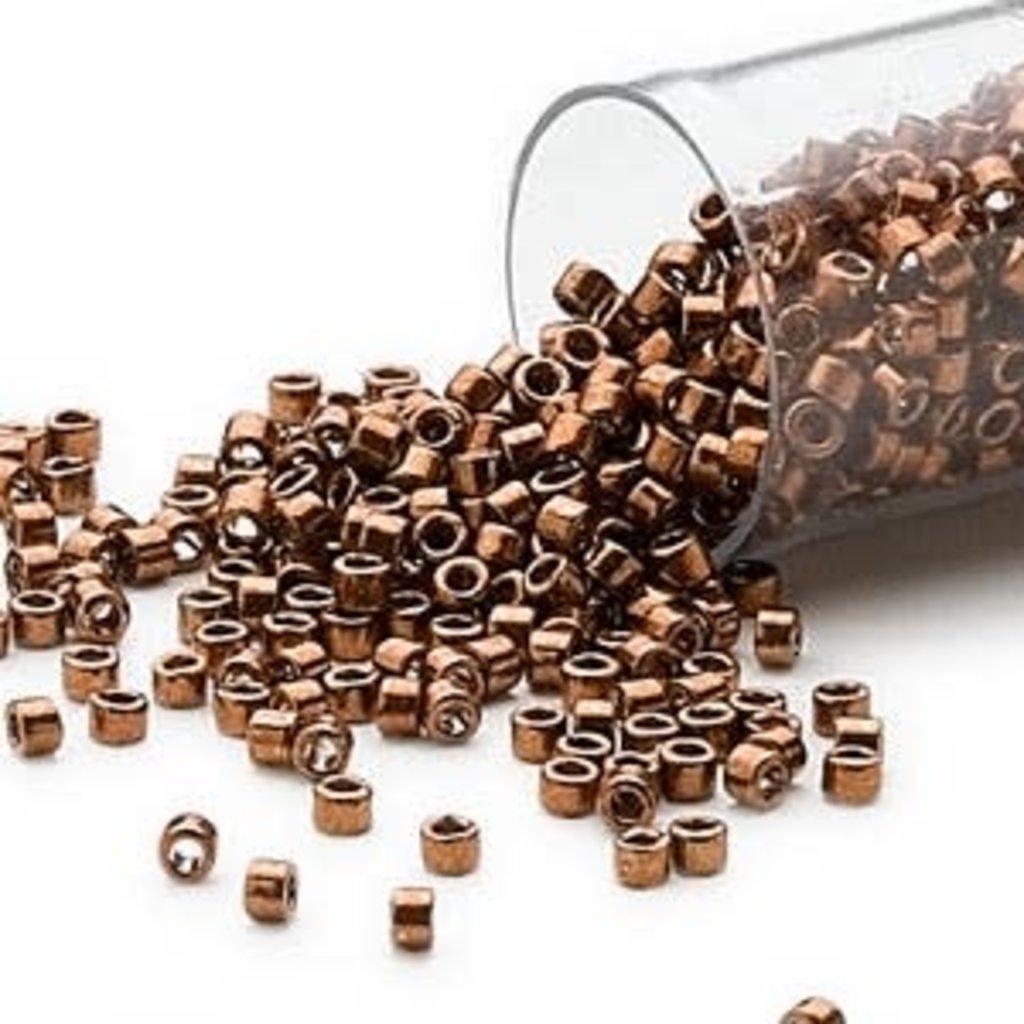 Miyuki Delica #11 Nickel Finish Copper   Db0461 7.5 gram vial