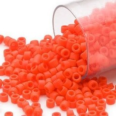 Miyuki Delica #11Opaque Matte Orange Db0752      7.5 gram vial