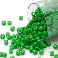 Miyuki Delica #11  Opaque Pea Green Db0724    7.5 gram vial