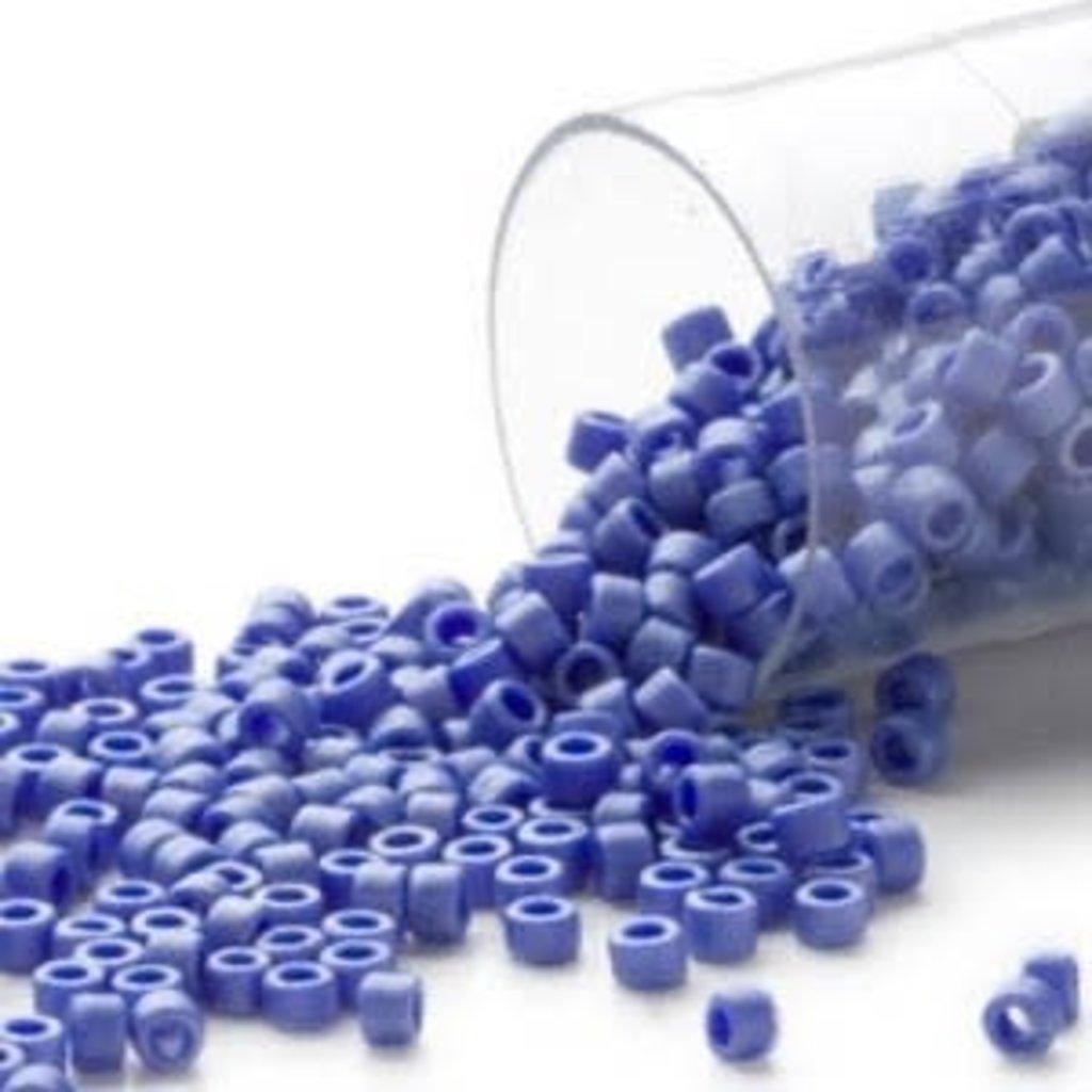 Miyuki Delica #11Opaque Matt Luster Medium  Blue Db0361 7.5 gram vial