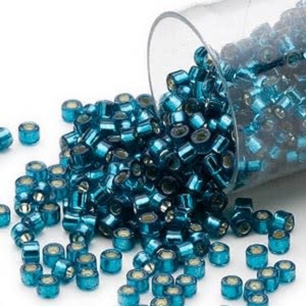 Miyuki Delica  #11 Silver-Lined Blue Zircon Db0608 7.5 gram vial