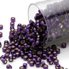 Miyuki Delica  #11 Silver-Lined Dk Purple Db0609 7.5 gram vial