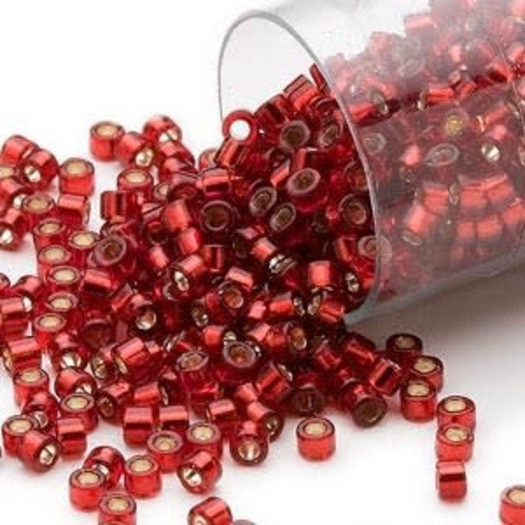 Miyuki Delica  #11 Silver-Lined Dk Red Db0603 7.5 gram vial