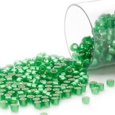 Miyuki Delica  #11 Silver-Lined Frost Md Green Db0688 7.5 gram vial