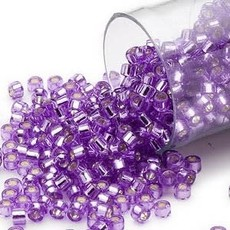 Miyuki Delica  #11 Silver-Lined Purple Db1347 7.5 gram vial