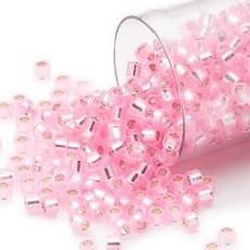 Miyuki Delica  #11 Silver-Lined Light Rose Db1335   7.5 gram vial