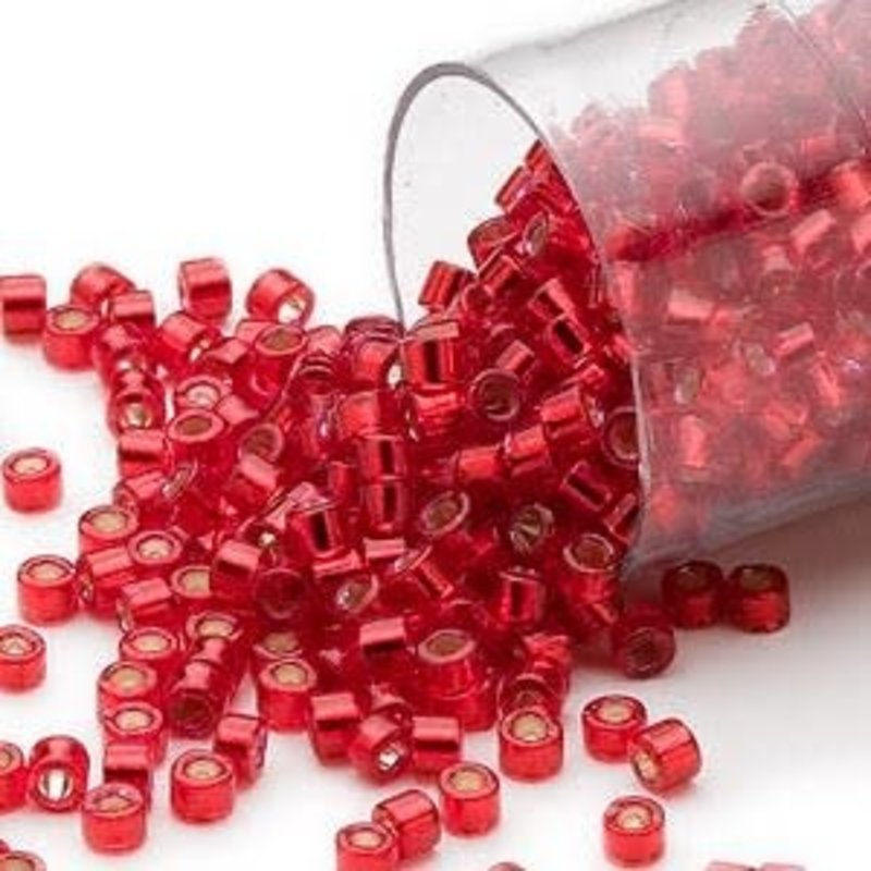 Miyuki Delica  #11 Silver-Lined Red Db0602   7.5 gram vial