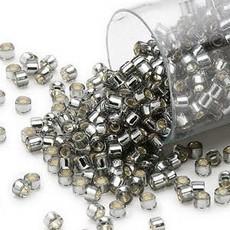 Miyuki Delica  #11 Silver Lined Dk Silver Db0048 7.5 gram vial