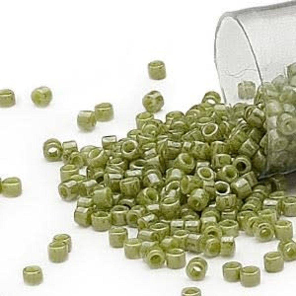 Miyuki Delica #11  Opaque Luster O. Green Db0263       7.5 gram vial