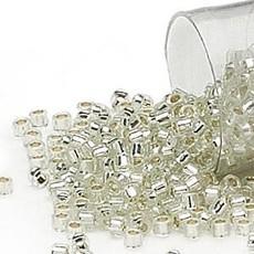 Miyuki Delica  #11 Silver-Lined Glazed Clear Db1431   7.5 gram vial