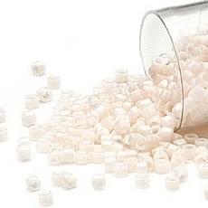 Miyuki Delica #11 Opaque Alabaster Db1490   7.5 gram vial