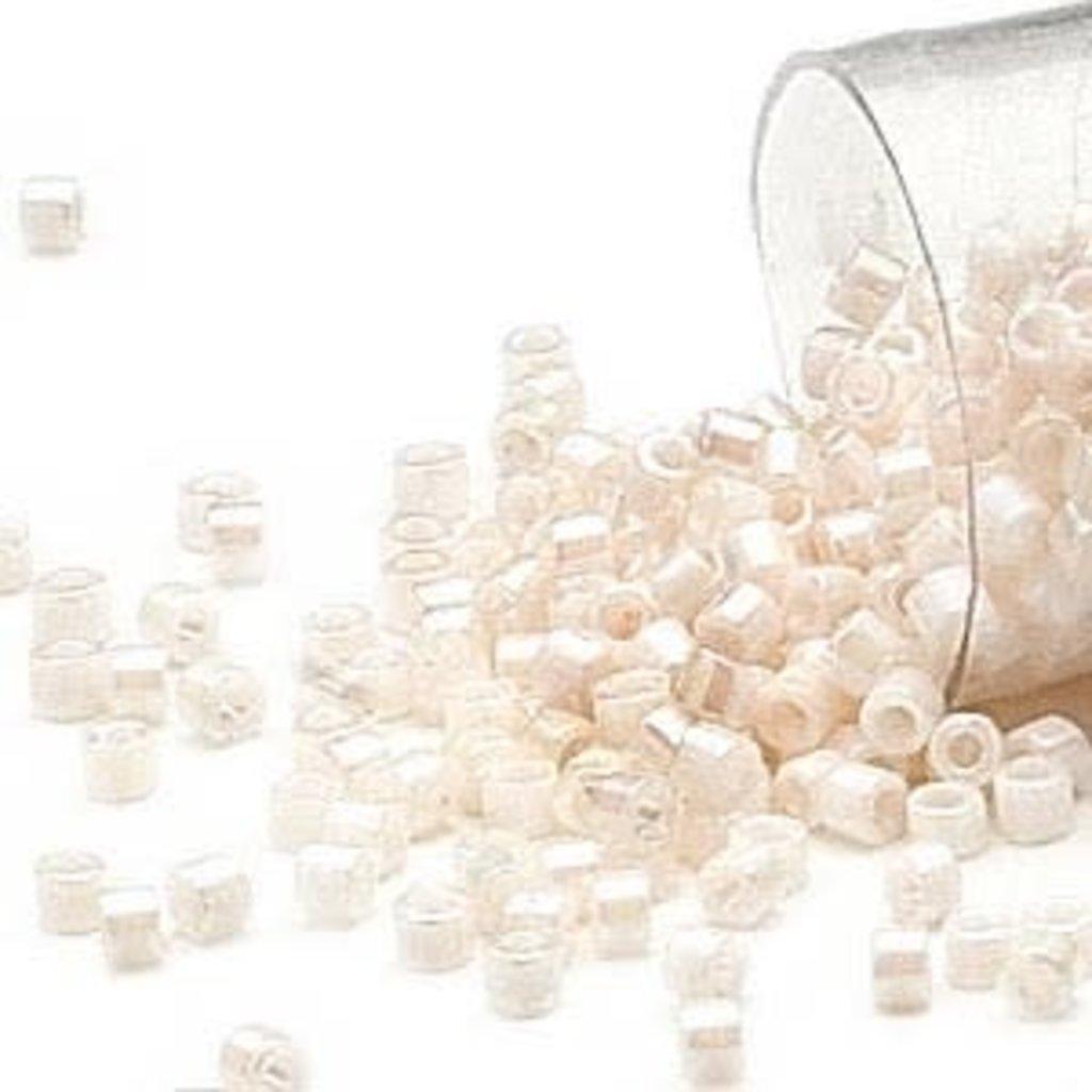 Miyuki Delica #11  Opaque Rainbow White Db1500 7.5 gram vial