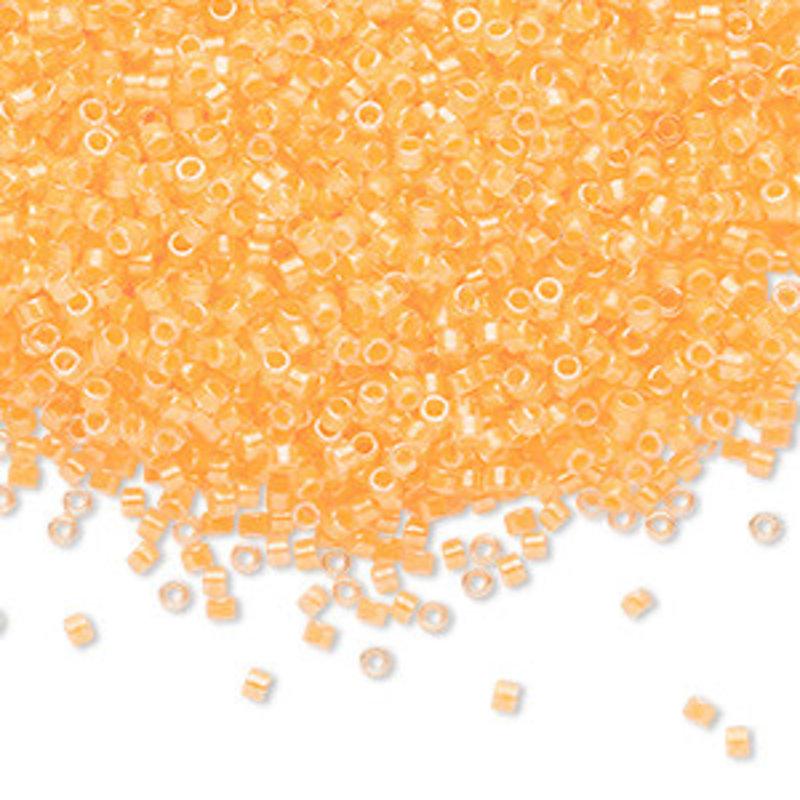 Miyuki Delica #11 Transparent  Color-Lined Luminous Neon Sun Yellow Db2032 7.5 gram vial
