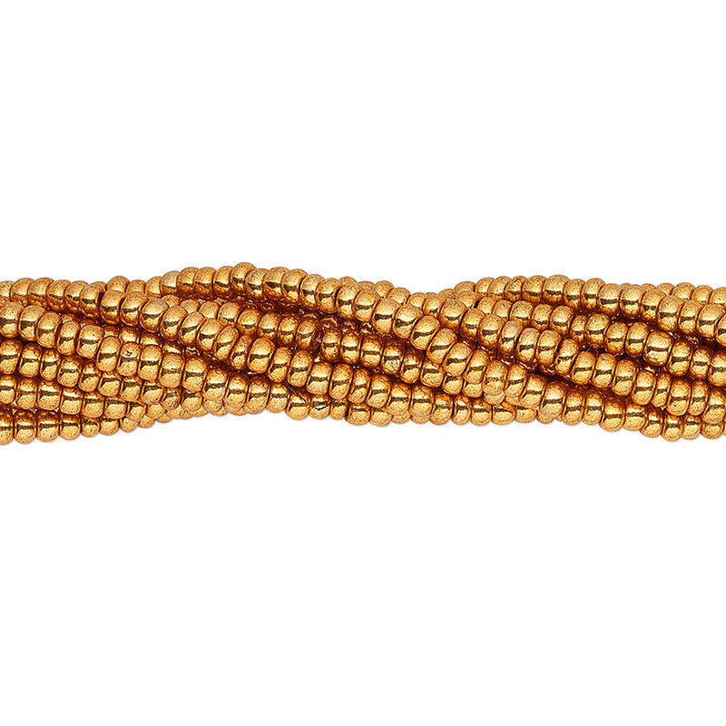 Preciosa Sb#11 Metallic Dark Gold/Hank