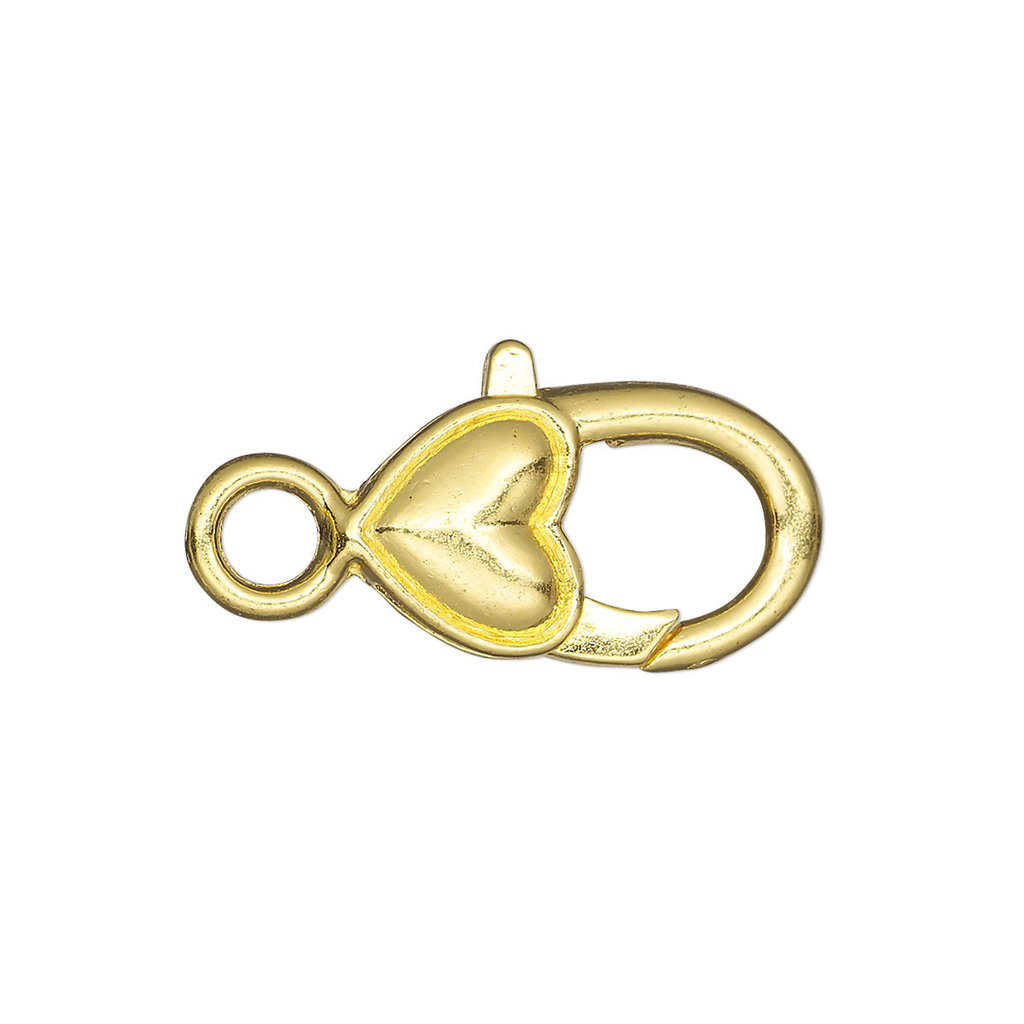 Lobster Clasp With Plain Heart