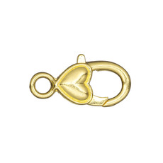 Bead World Lobster Clasp With Plain Heart