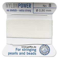 Nylon Thread Thread Nylon White #8 2Yrds