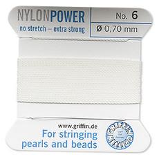 Nylon Thread Thread Nylon White #6 2Yrds