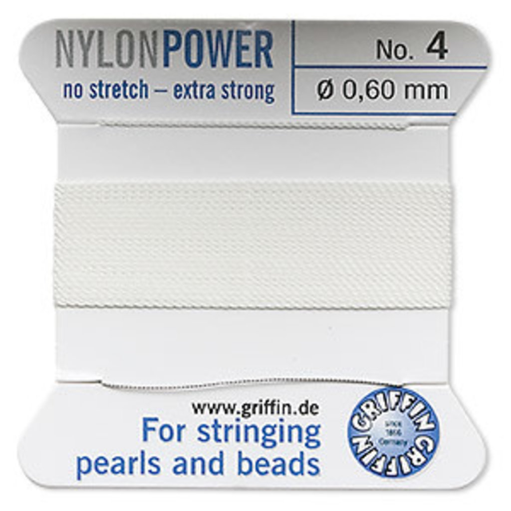 Nylon Thread Thread Nylon White #4 2Yd