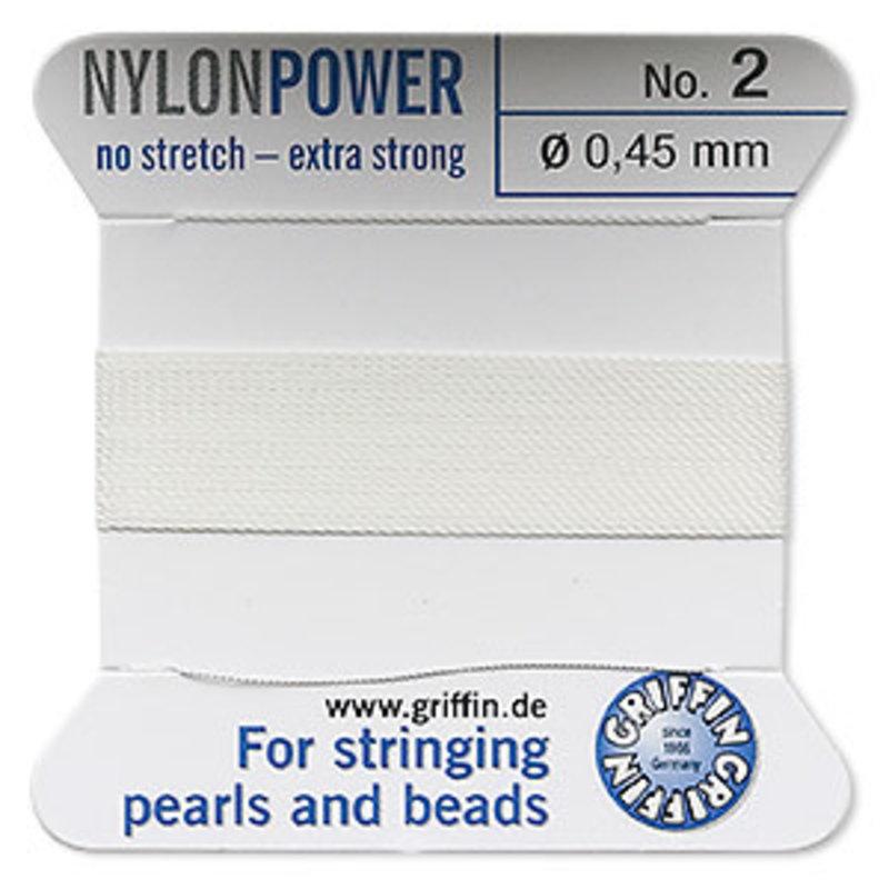Nylon Thread Thread Nylon White #2 2Yrds
