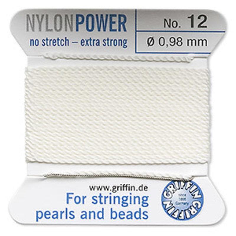 Nylon Thread Thread Nylon White #12 2Yd