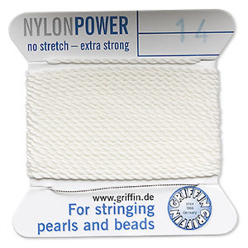 Nylon Thread Thread Nylon White #14 2Yd