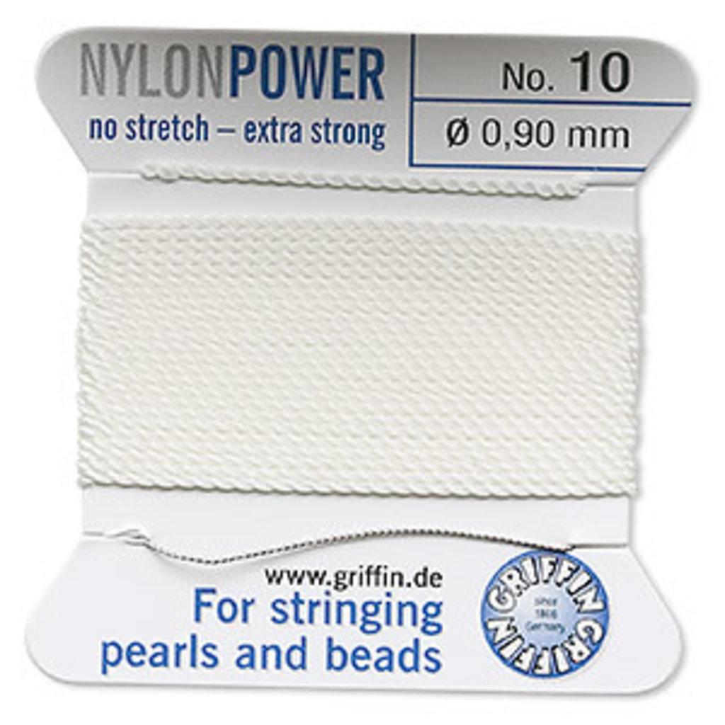 Nylon Thread Thread Nylon White #10 2Yd