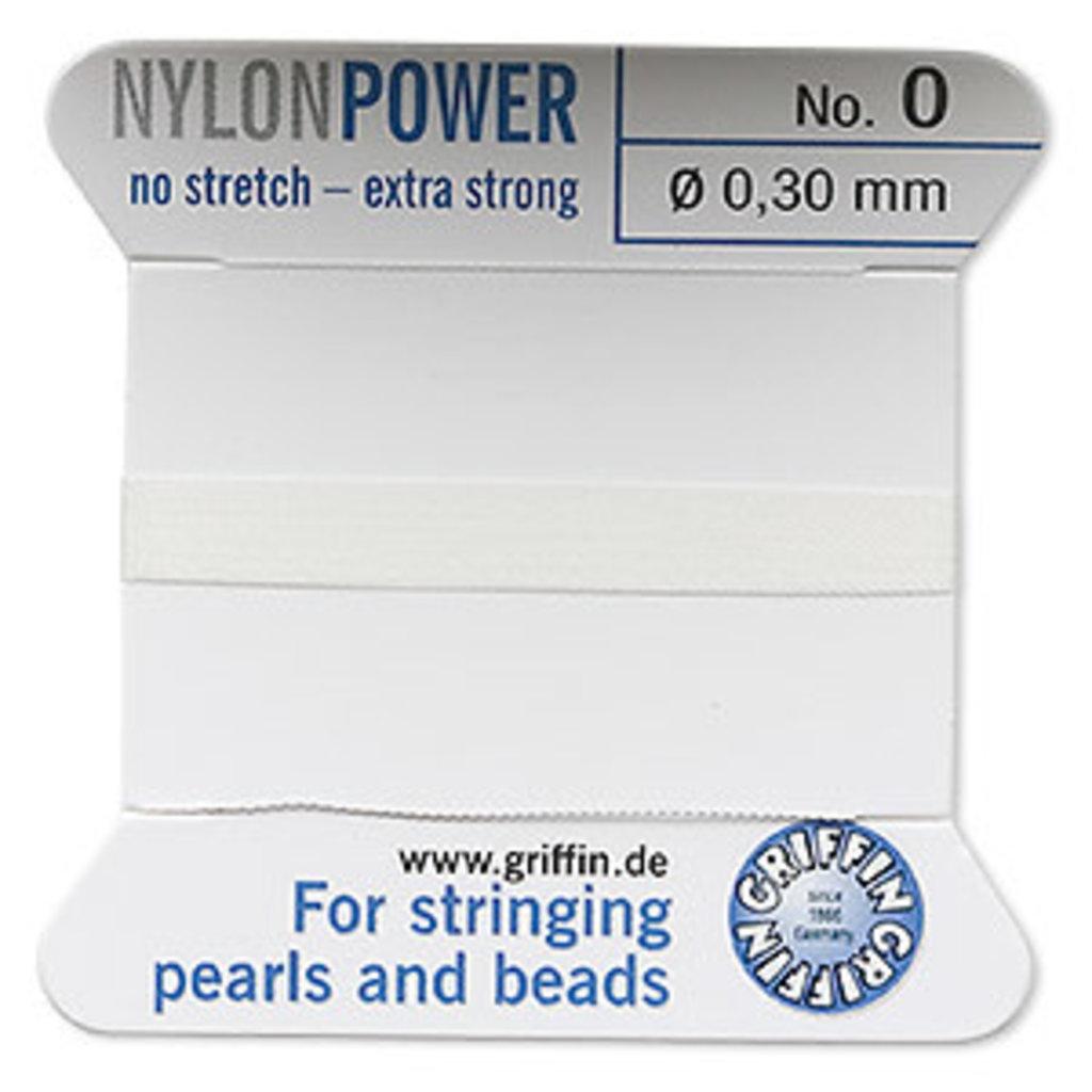 Nylon Thread Thread Nylon White #0 2Yrds