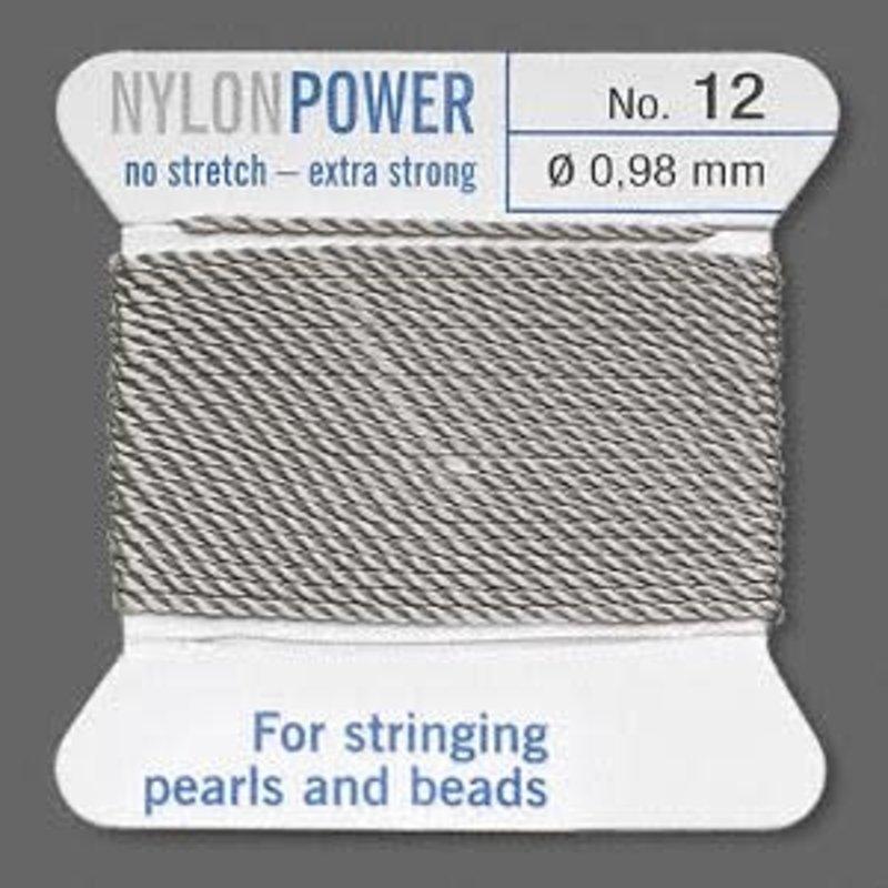 Nylon Thread Thread Nylon Grey #12 2Yd