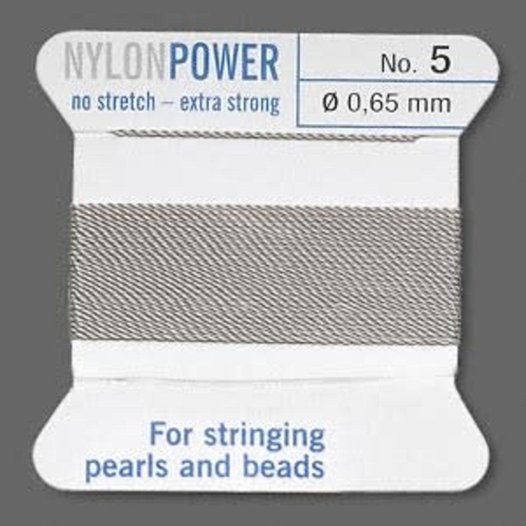 Nylon Thread Thread Nylon Grey #5 2Yrds