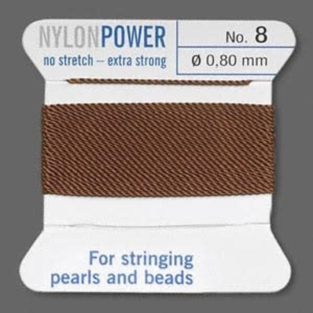 Nylon Thread Thread Nylon Brown #8 2Yrds