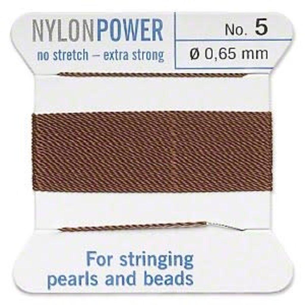 Nylon Thread Thread Nylon Brown #5 2Yrds