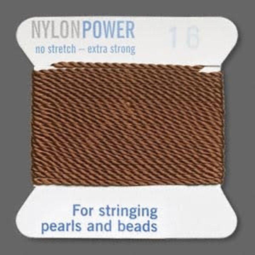 Nylon Thread Thread Nylon Brown #16 2Yrds