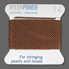 Nylon Thread Thread Nylon Brown #14 2Yrds