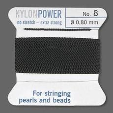Nylon Thread Thread Nylon Black #8 2Yrds