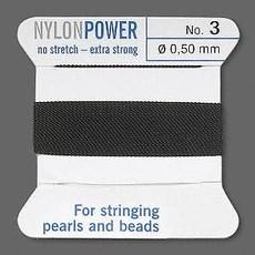 Nylon Thread Thread Nylon Black #3 2Yrds